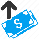 cash, finance, pay, payment, purchase, send, spend banknotes icon