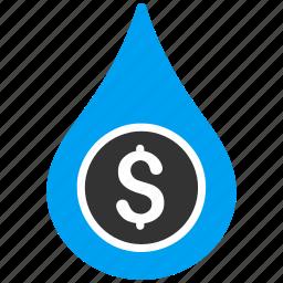 aqua, business, fuel, gas, oil drop, petrol, water price icon