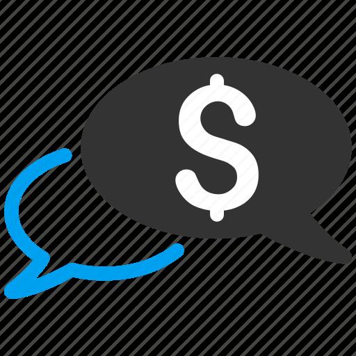 auction, bids, bubble, business chat, communication, message, talk icon