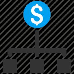 budget, business report, cash flow, diagram, financial chart, flowchart, payment scheme icon
