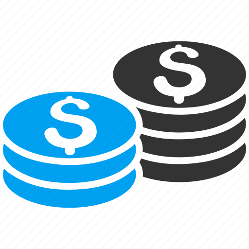 cash, coin stacks, currency, dollar, finance, money, payment icon