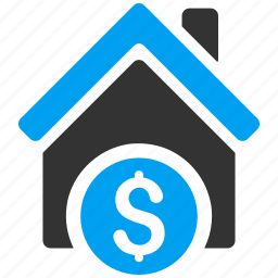 bank, home rent, house, loan, mortgage, real estate, sale icon