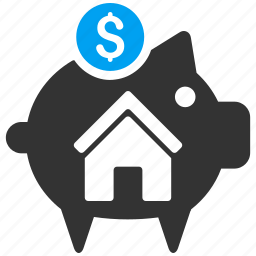 bank, banking, deposit, finance, home savings, income, money icon