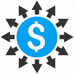 banking, cash flow, financial, money distribution, payments, payouts, transactions icon