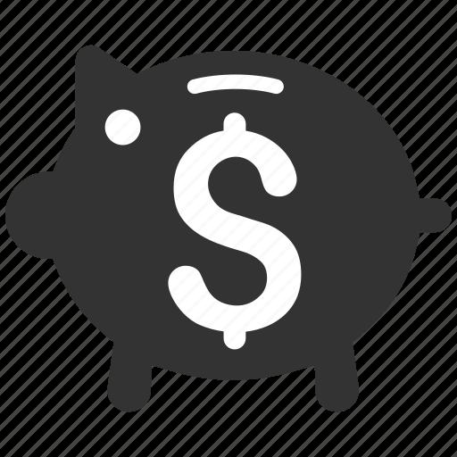 account, banking, finance, pig, piggy bank, savings, treasure icon