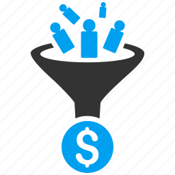 business, conversion, customer filter, customers, financial effect, sale, sales funnel icon