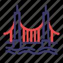 bridge, california, golden gate, golden gate bridge, landmark, san francisco icon
