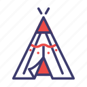 american, indian, native, red indian, teepee, tent, tribal icon