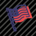 america, liberty, national, patriot, united states, usa flag icon