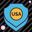 security, shield, usa icon