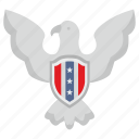 eagle, national, shield, usa icon