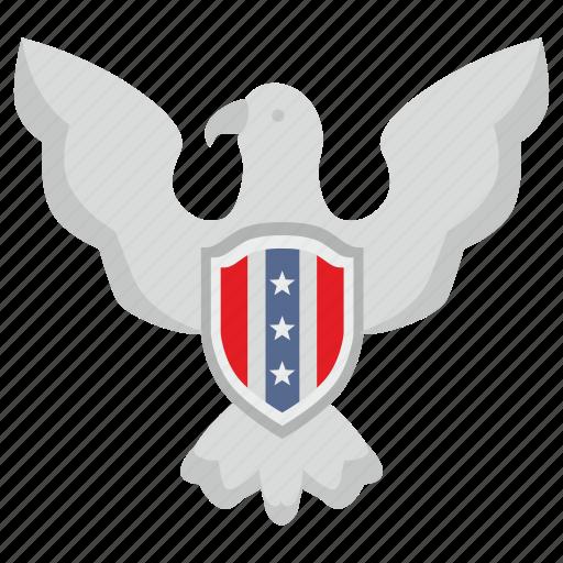 eagle, national, shield, usa icon