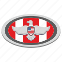 eagle, flag, label, national, oval, usa icon