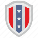 flag, national, shield, star, states, usa icon
