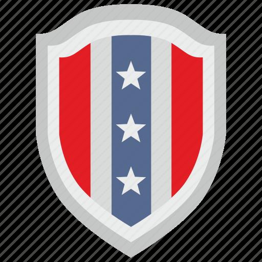 flag, national, shield, star, states, usa icon