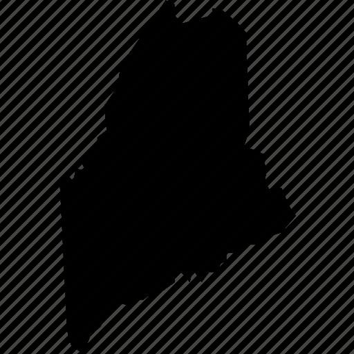 america, federal, maine, map, portland, republic, state icon