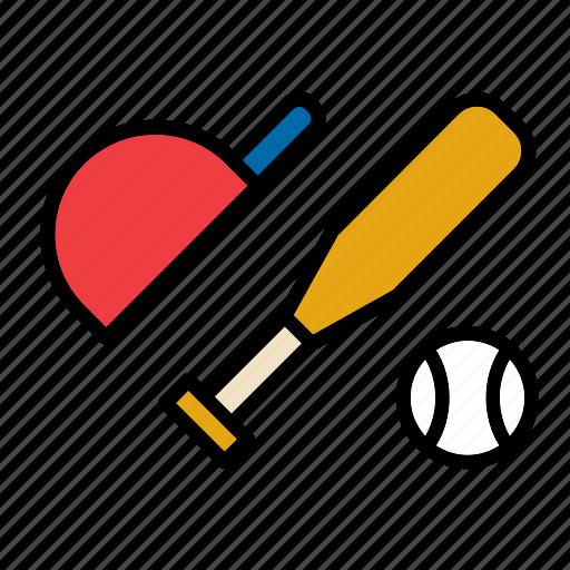 ball, baseball, bat, cap, sport icon