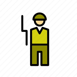 army, man, military, people, soldier, war icon