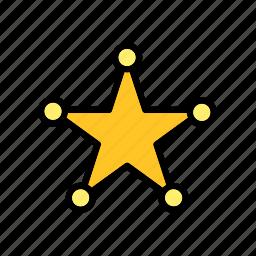 america, badge, police, sherif, sheriff, star, usa icon