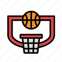 backboard, ball, basket, basketball, hoop icon