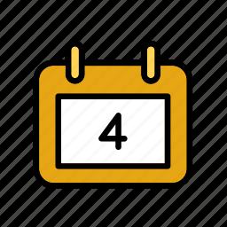 america, calendar, fourth, july, states, united, usa icon