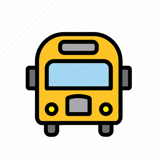 america, american, bus, school, transport, united states, usa icon