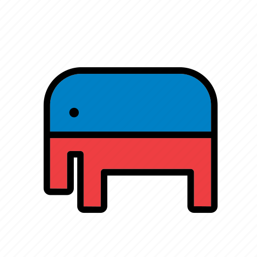 america, american, elephant, republican party, states, united, usa icon
