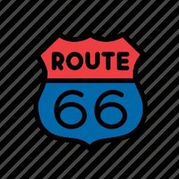 america, american, route 66, sign, states, united, usa icon