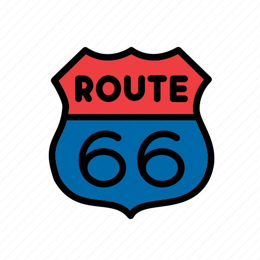 america, american, route 66, sign, states, united, usa icon