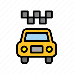 american, cab, new york, taxi, transport, united states, usa icon