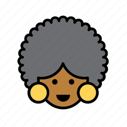 african, afro, america, american, united states, usa, woman icon