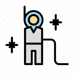 astronaut, cosmonaut, man, people, space, spaceman icon