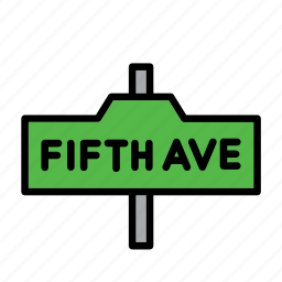 america, ave, avenue, fifth, new york, united states, usa icon