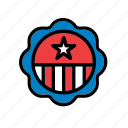america, american, badge, shield, states, united, usa icon