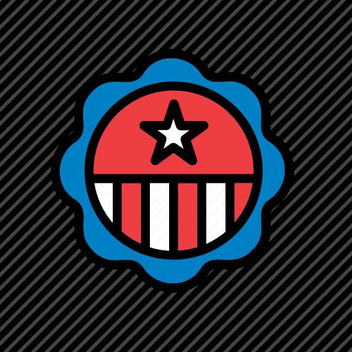 america, american, badge, shield, states, united, usa icon