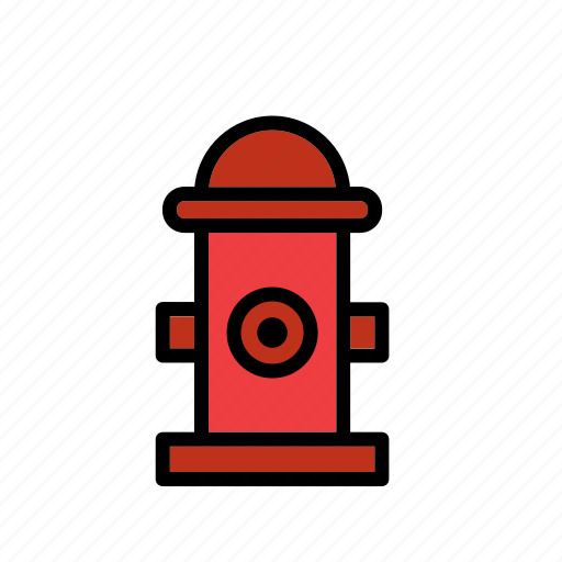 fighting, fire, fountain, hydrant, red, water icon