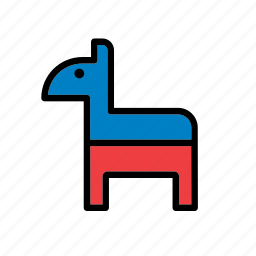 america, american, democratic party, donkey, states, united, usa icon