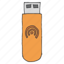 datacard, device, internet, stick, technology, usb, wireless icon