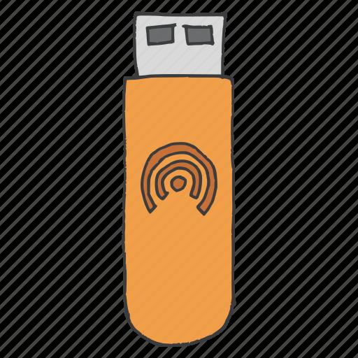 datacard, device, internet, stick, technology, usb, wireless icon