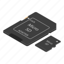 card, cartoon, digital, flash, isometric, micro, sd
