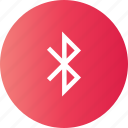 app, bluetooth, share, social icon