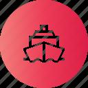 boat, cruse, sea, travel icon