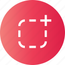 border, imprint, spot, surround icon