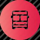 bus, station, travel, trip icon