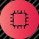 cip, computer parts, cpu, memory icon