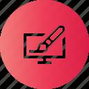 computer, draw, paint, program icon