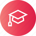 education, graduate, learn, school icon