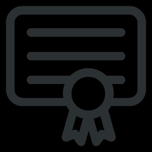 attestation, business, certificate, diploma, reward icon icon
