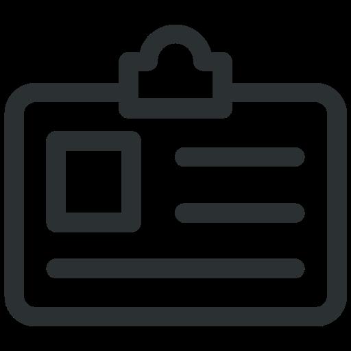 employee card, id, id card, identity, identity card icon icon