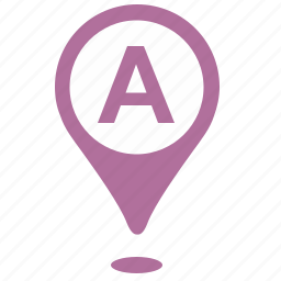 a, geo, location, point, position, side icon